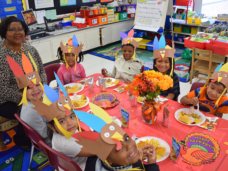 Northeast Kindergartners Feast and Give Thanks