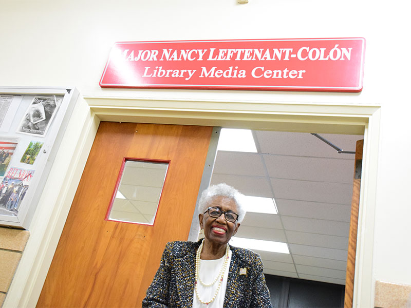 High School Library Named for Distinguished Nurse