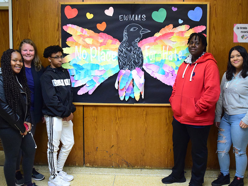 Cultivating Kindness With Art at Miles Middle School