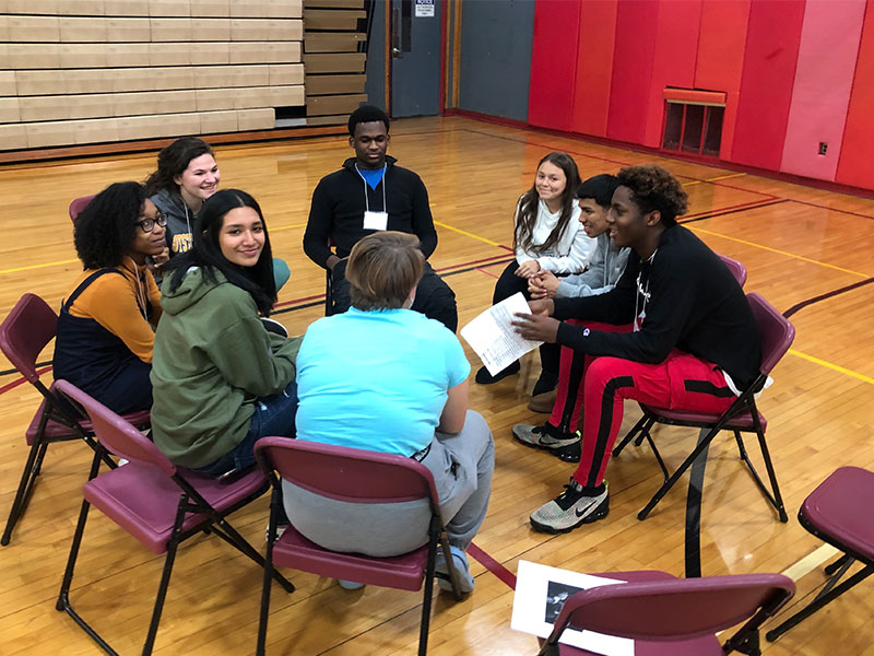Amityville Students Connect With Long Island Peers